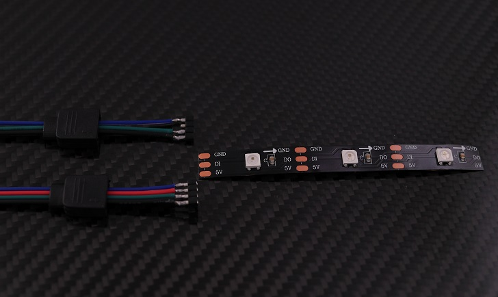 WS2812B ledテープ アドレス可能 LEDテープライト5050 RGB SMD 5m 150個本体、その3