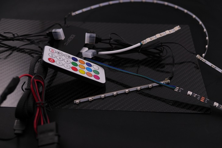 EasydiyRGB LEDファンフレームとメモリヒートシンク分解後