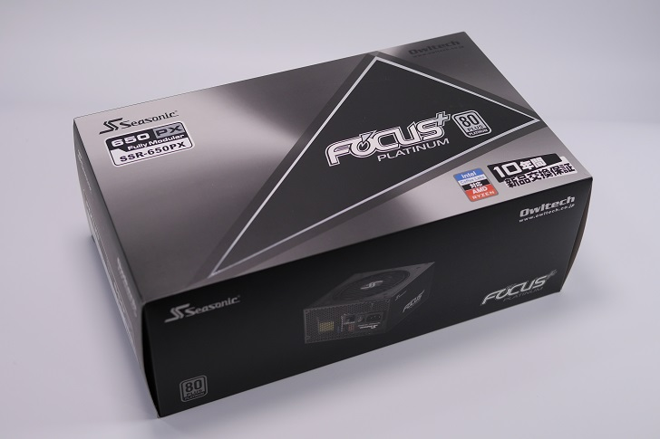 Seasonic FOCUS PLUS SSR-650PX開封、その1