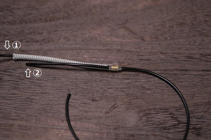 スリーブケーブル熱収縮チューブレスで分岐、その4