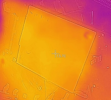 SanDisk Ultra 3D 1TB、CrystalDiskMark 100MiB中の温度、その1