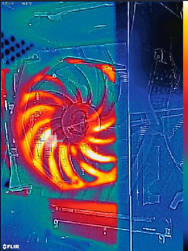 3DMARK実行中をFLIRで確認、その1