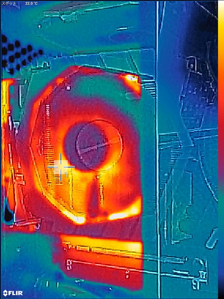 3DMARK実行中をFLIRで確認、その2