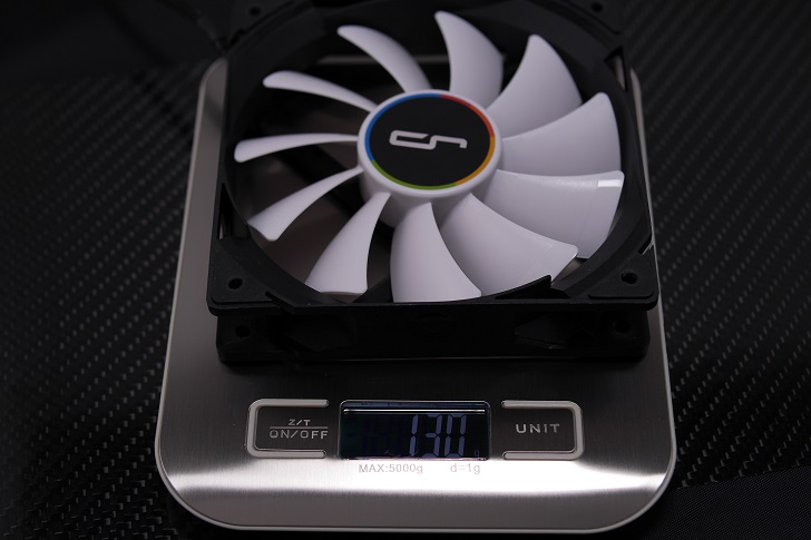CRYORIG QF120 PERFORMANCEの重さ