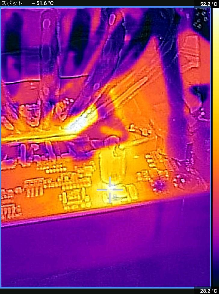 AMD Ryzen 5 2600でCINEBENCH R20中の温度、その9