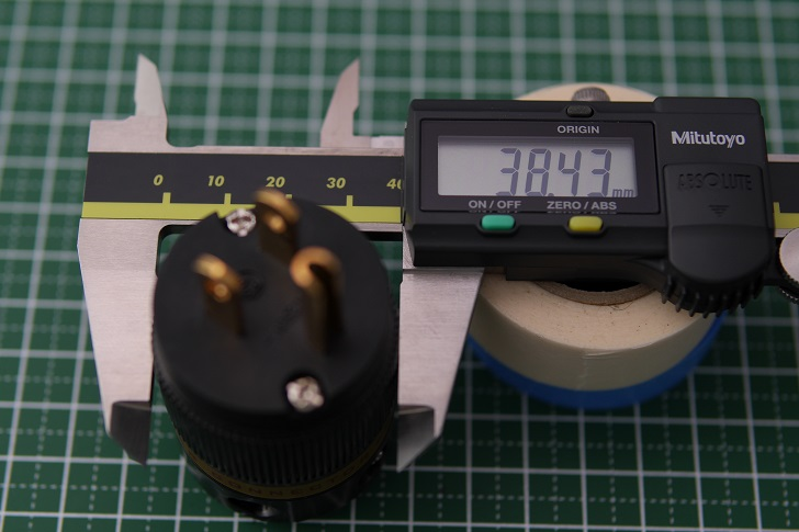 Viborg Audio純銅 24K金メッキ電源プラグのサイズ