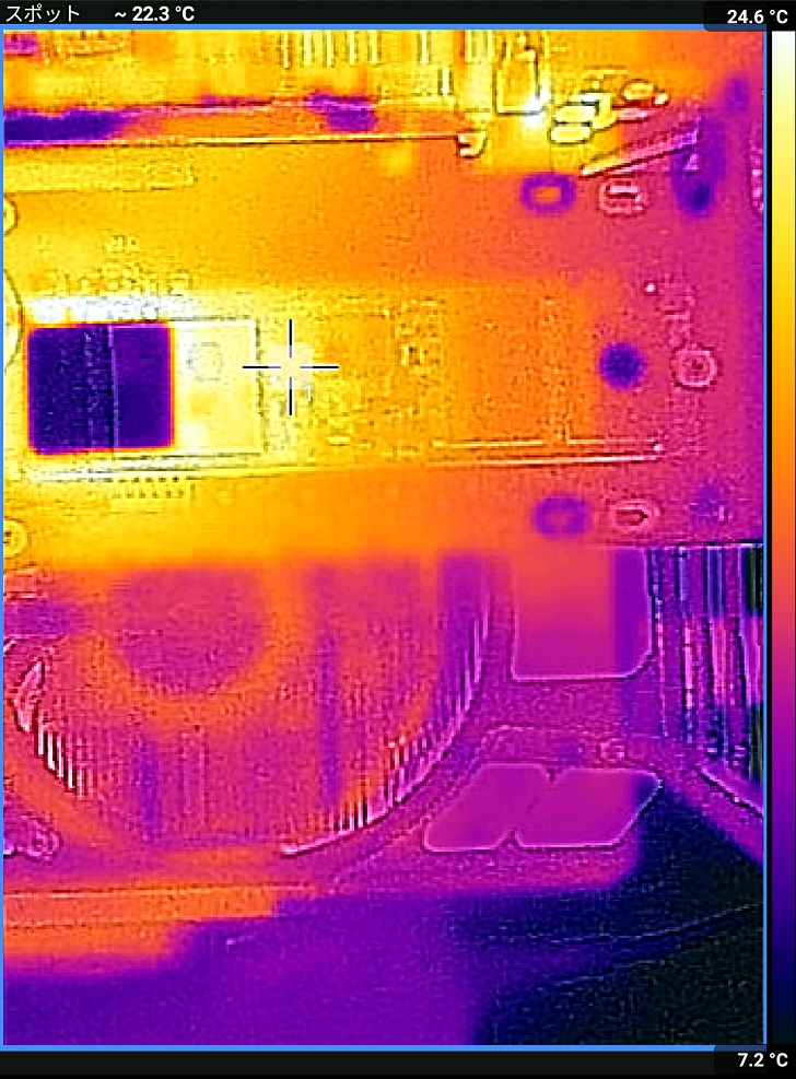 AINEX AIF-08+ADATA XPG SX8200 Pro アイドル時の温度、その3