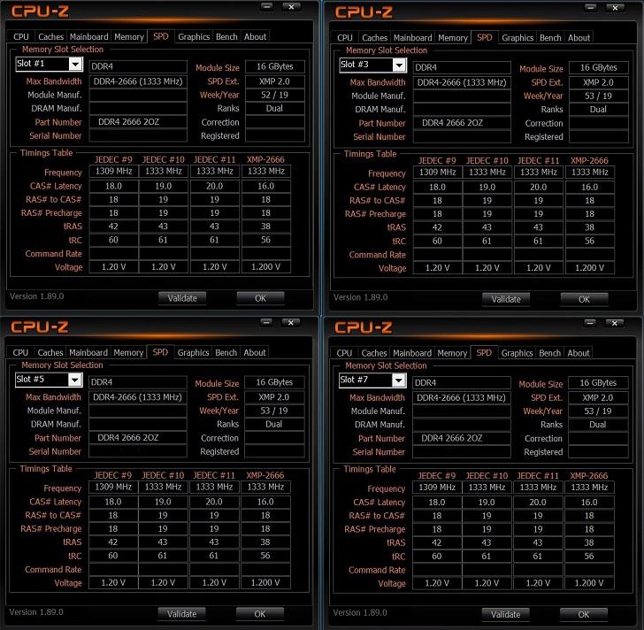 CFD W4U2666CX1-16G×4 CPU-Zで見る!その1
