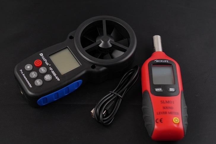 HoldPeak デジタル風速計 (HP-866B-APP[スマホ対応])と騒音計