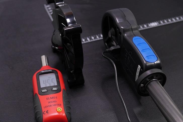デジタル風速計でファンの風速を確認する、その1