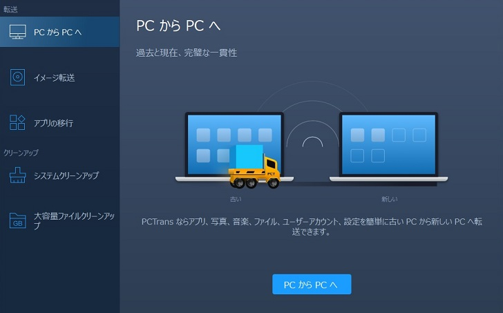 EaseUS Todo PCTransでPCからPCへデータ転送、その1